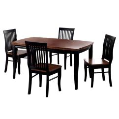 Antique Oak Dining Chairs Hsl Chair Accessories Venetian Worldwide Earlham 5 Piece And Black Finish Set