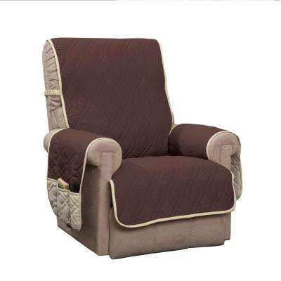 slipcovers for living room chair aluminum folding chairs recliner furniture the home depot 5 star chocolate protector