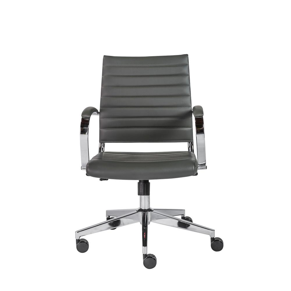 Low Back Office Chair Eurostyle Brooklyn Gray Low Back Office Chair 10477gry The Home