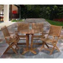 Aruba Teak 5-piece Patio Dining Set-sc Victor