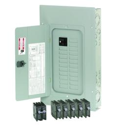 eaton 100 amp 20 space 20 circuit indoor main breaker loadcenter with combination cover [ 1000 x 1000 Pixel ]