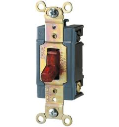 15 amp 120 277 volt industrial grade toggle switch with pilot light red [ 1000 x 1000 Pixel ]