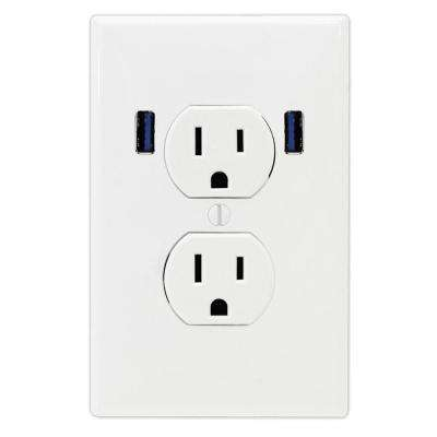 duplex receptacle diagram 5 1 home theater circuit u socket usb port electrical outlets receptacles wiring 15 amp standard wall outlet with 2 built in charging ports white