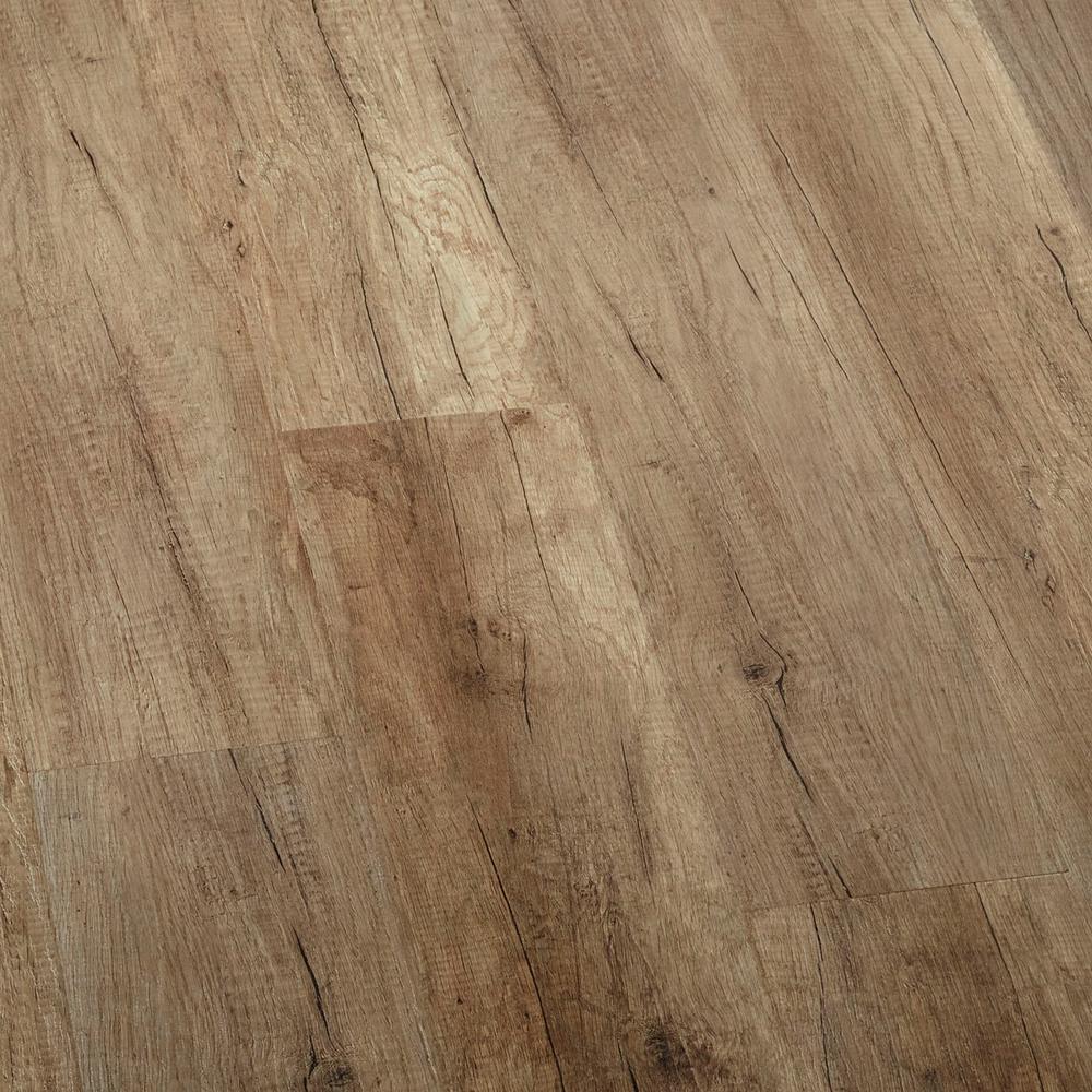 LifeProof Embossed Greystone Oak Laminate Flooring  5 in