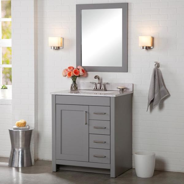 Home Decorators Collection Westcourt 36 In W X 21 In D X 34 In H Bath Vanity Cabinet Only In Sterling Gray Wt36 St The Home Depot