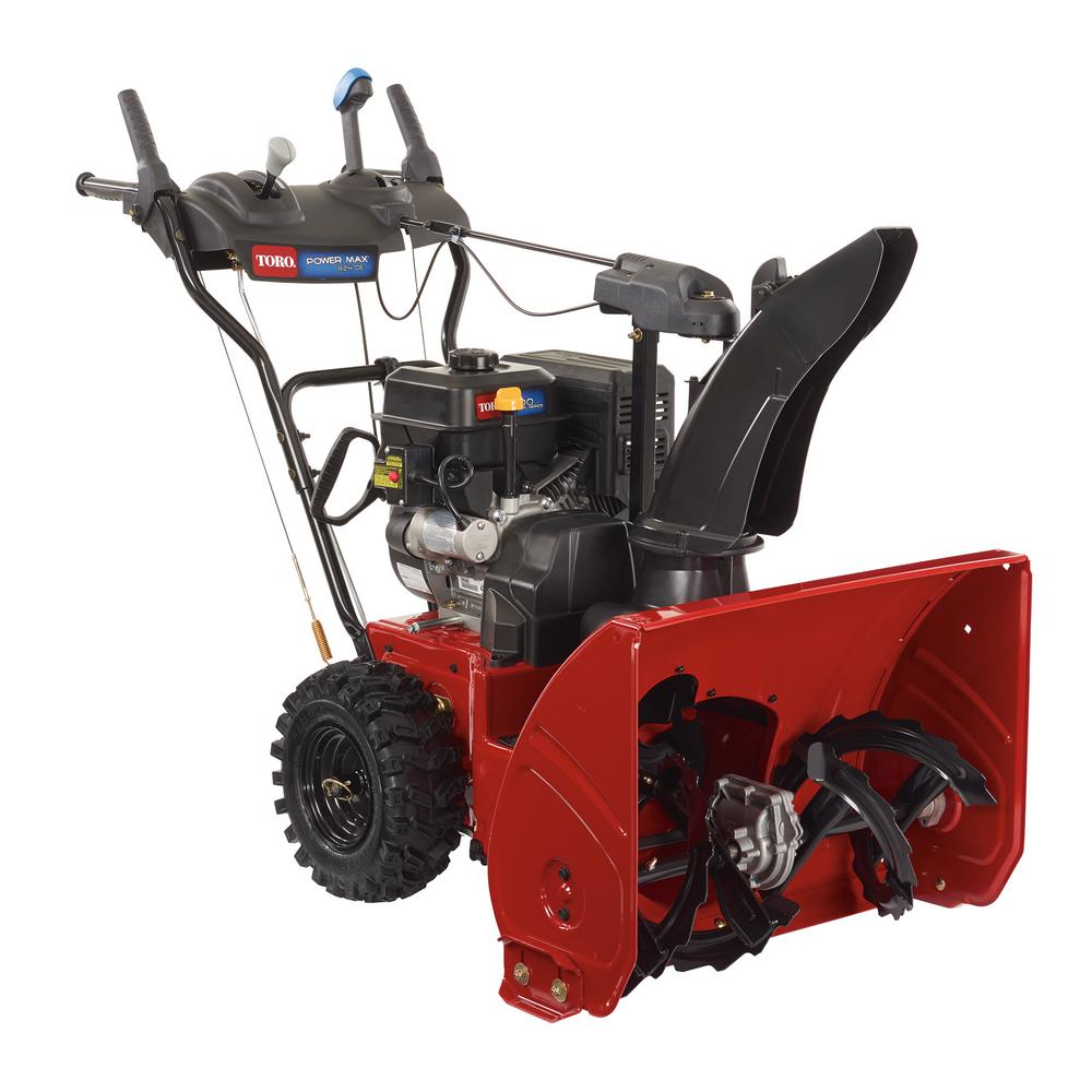 medium resolution of 252cc two stage electric start gas snow blower