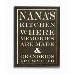 Kitchen Wall Art Appliance Decor The Home Depot Nanas And Spoiled Grandkids Dark By
