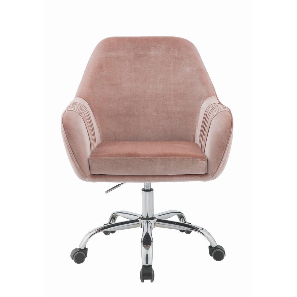 desk chair pink bedroom table office chairs home furniture the depot eimet dusky rose velvet