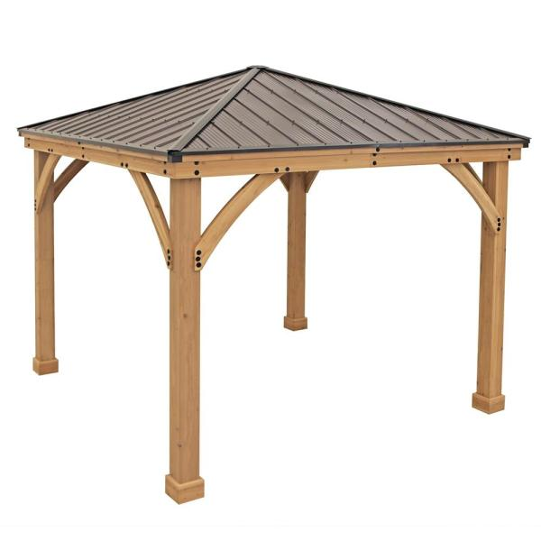 Yardistry 10 Ft. X Meridian Gazebo-ym11756 - Home Depot