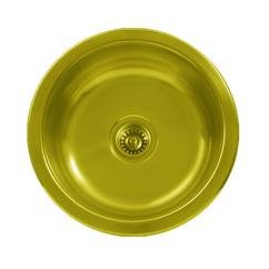 Brass Kitchen Sink Cook Stoves Whitehaus Collection Undermount 18 In Single Bowl Round Prep Polished