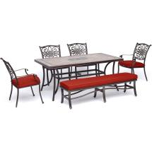 Hanover Monaco 6-piece Aluminum Outdoor Dining Set With