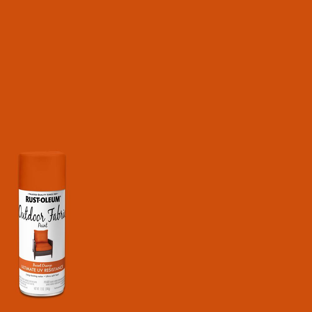 Rust Oleum 12 Oz Burnt Orange Outdoor Fabric Spray Paint 352122 The Home Depot