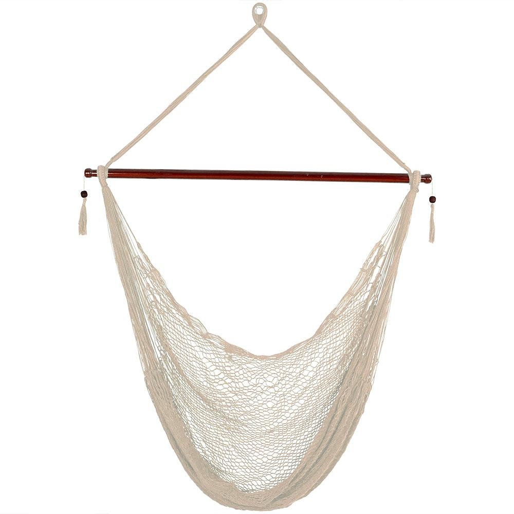 hanging chair decor canyon swing queenstown in new zealand sunnydaze cabo 6 ft x large hammock cream hr