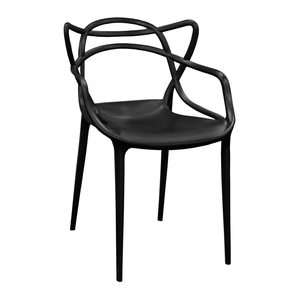 chair stands on painted ideas mod made modern plastic black loop dining side set of 2 mm pc 006 the home depot