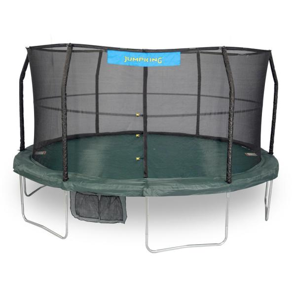 Jumpking 14 Ft. Trampoline Enclosure Combo-jk1466c2 - Home Depot