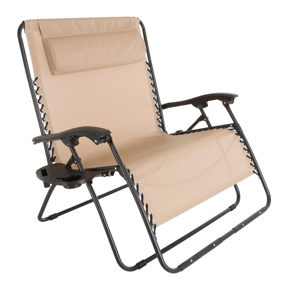 anti gravity lawn chair baby trend high pure garden zero beige metal reclining m150117