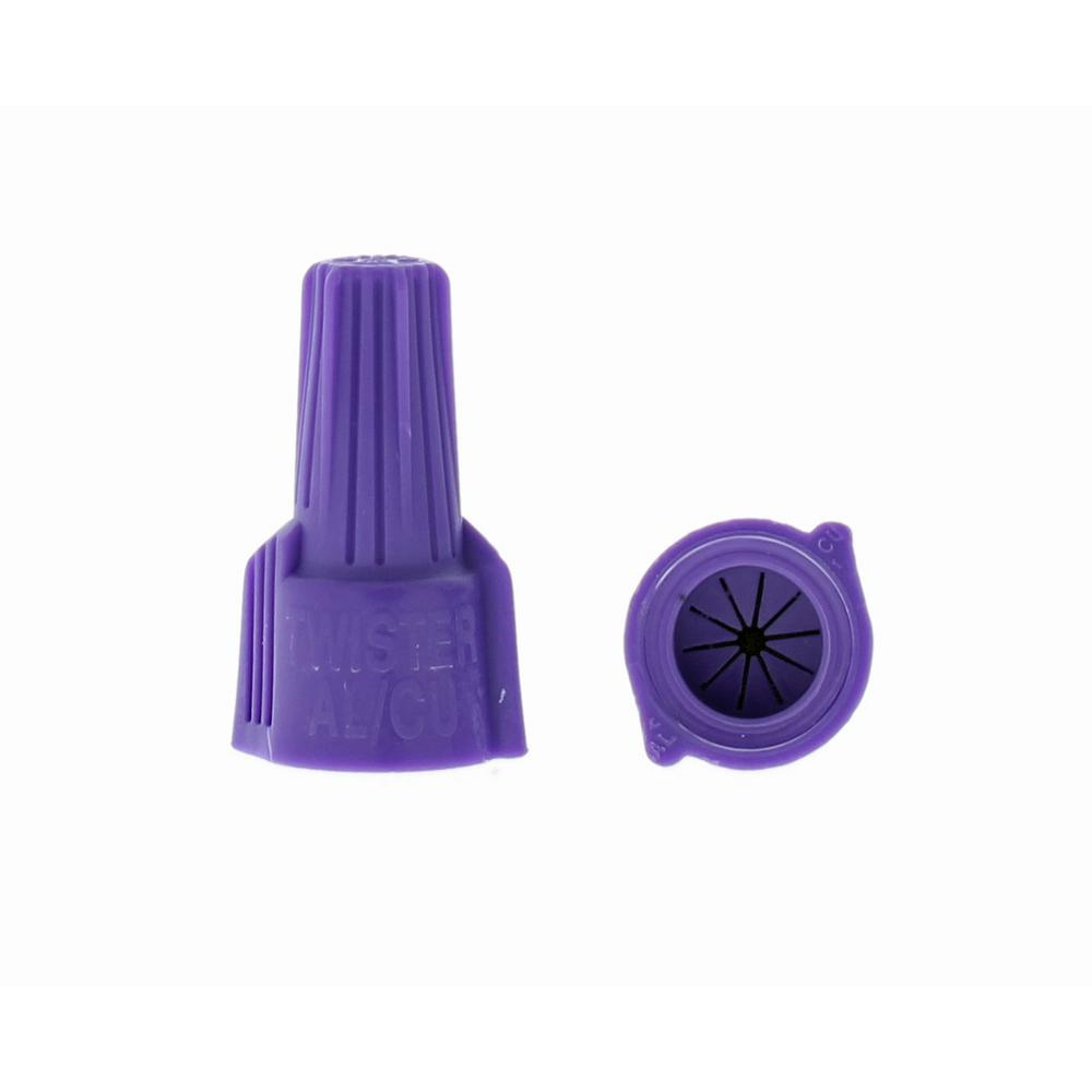 medium resolution of 65 purple twister aluminum to copper wire connector 2 pack