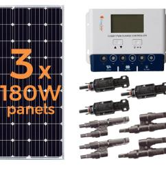 grape solar 540 watt off grid solar panel kit [ 1000 x 1000 Pixel ]