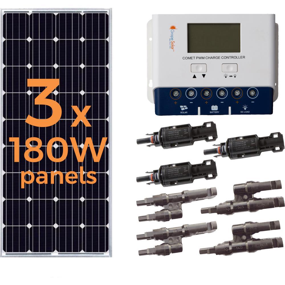 hight resolution of grape solar 540 watt off grid solar panel kit