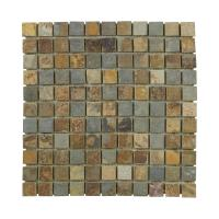 Jeffrey Court Slate 12 in. x 12 in. x 8 mm Mosaic Floor ...