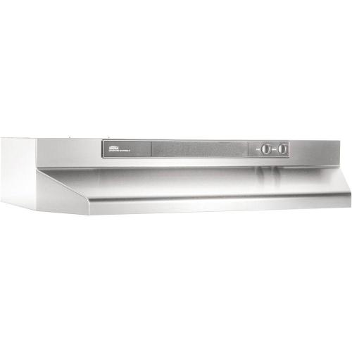 small resolution of broan 46000 series 24 in convertible range hood in stainless steel