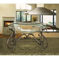 Decorative Bowl and Metal Stand in Wrought Iron-81684 ...