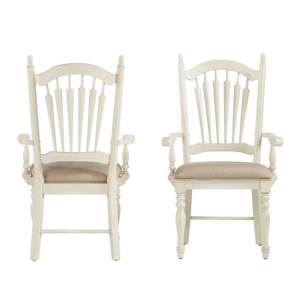 Home Styles White Wash Wood XBack Dining Chair Set of 2