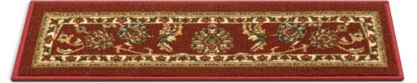 Well Woven Kings Court Tabriz Red Traditional Oriental Rubber Back | Oriental Carpet Stair Treads | Non Skid | Kings Court | Carpet Runners | Amazon | Stair Runner