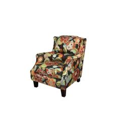 Floral Print Accent Chairs Pp Chair Company Zoe Pub Back Multi Color 01 33c 03 550 The Home Depot