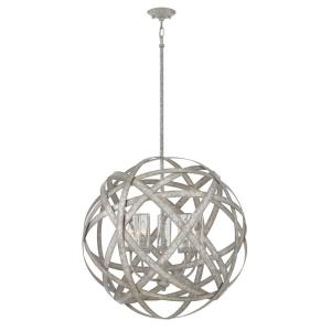Hinkley Lighting Carson Large 5-Light Weathered Zinz