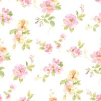 Chesapeake Captiva Pink Watercolor Floral Wallpaper ...