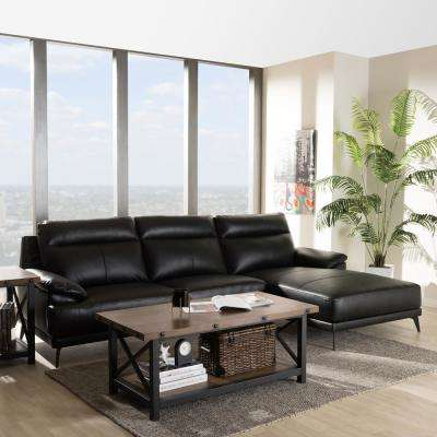 living room black leather sectional ideas log burners sectionals furniture the home depot rabbie 2 piece sleep