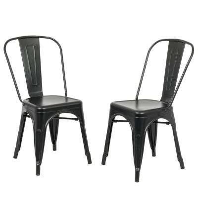 stackable dining room chairs black spindle arm chair 18 kitchen furniture adeline metal stacking set of 2