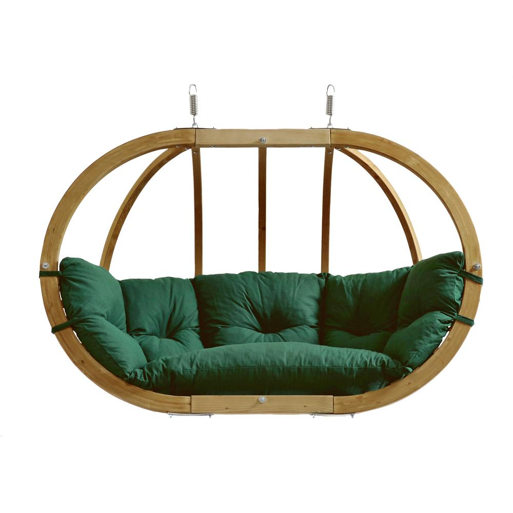 Swinging Chair Byer Of Maine Globo Chair Royal Two Person Laminated Spruce Patio Swing With Agora Green Cushion