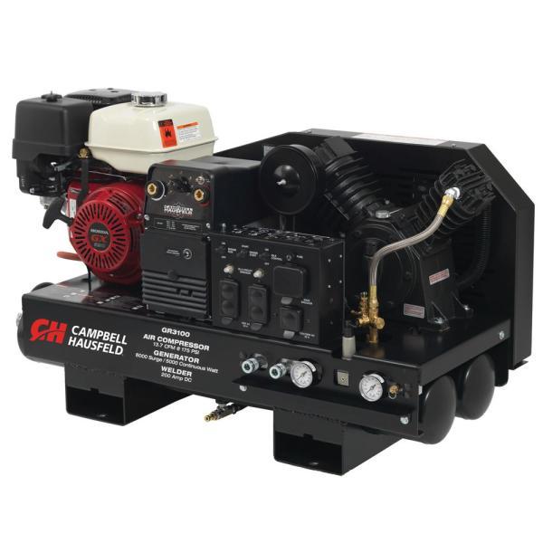 Campbell Hausfeld 3 In 1 Compressor Generator Welder 10 Gal. Stationary Gas Honda Gx390