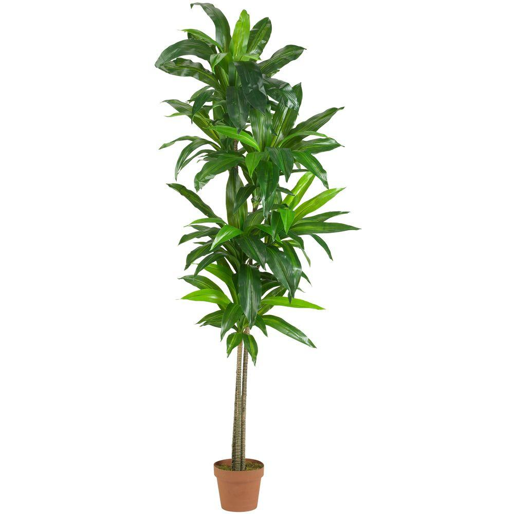 Nearly Natural Real Touch 6 Ft Dracaena Silk Plant 6596