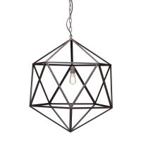 ZUO Amethyst 1-Light Rust Ceiling Large Pendant-98242 ...