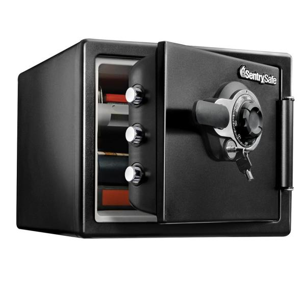 Sentrysafe Sfw082dtb 0.8 Cu Ft Fireproof Safe And Waterproof With Dial Combination