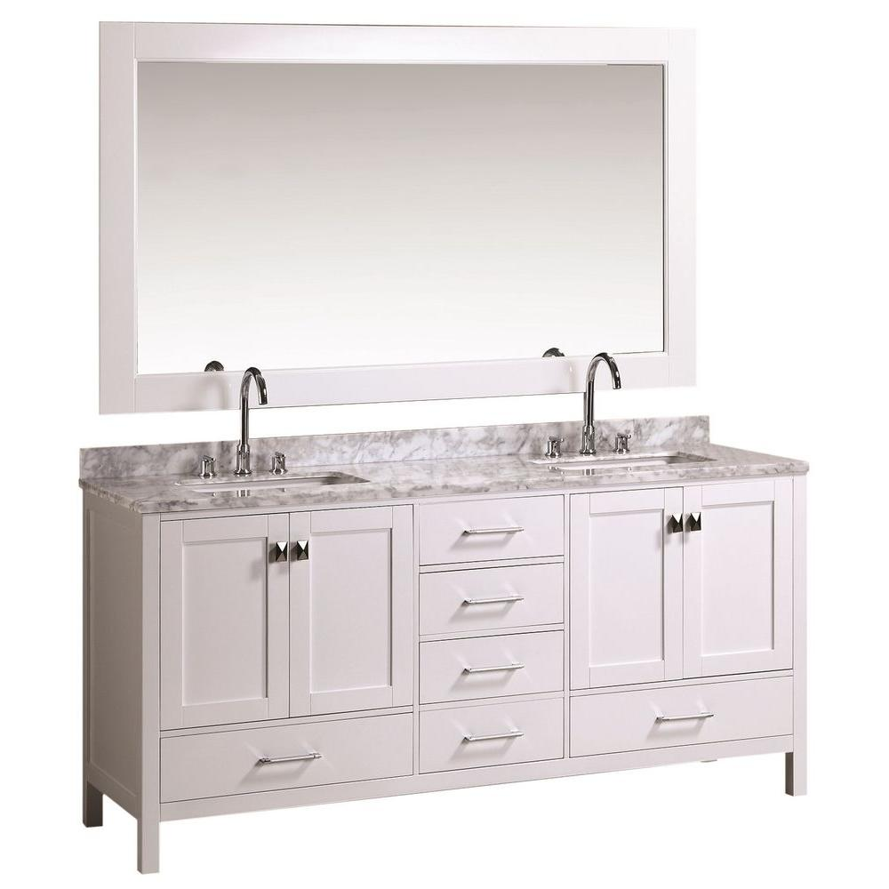 Design Element London 72 in W x 22 in D Double Vanity in