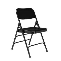 Public Seating Chairs Bamboo With Cushion National Nps 300 Series Premium Black All Steel Triple Brace Folding Chair