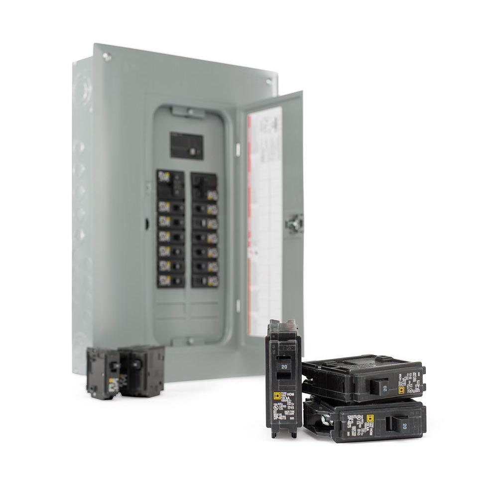 medium resolution of square d 100 amp 40 circuit 20 space indoor main breaker box panel load center 689781012466 ebay