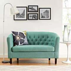 Living Room Loveseat Light Curtains Blue Sofas Loveseats Furniture The Home Depot Prospect Laguna Upholstered Fabric