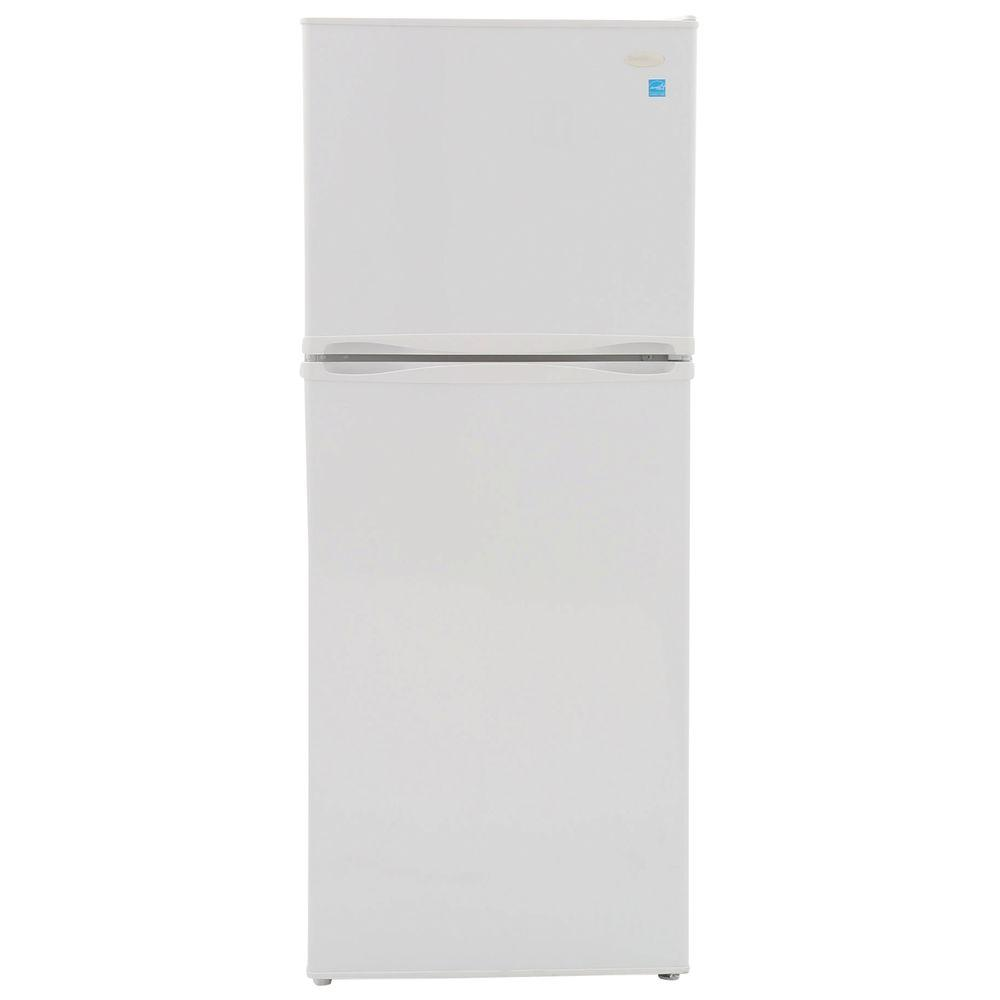 hight resolution of top freezer refrigerator in white cabinet depth
