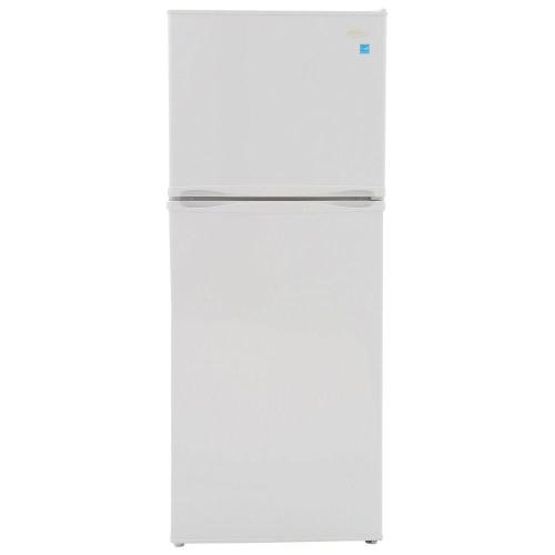 small resolution of top freezer refrigerator in white cabinet depth