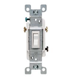 leviton 15 amp 3 way toggle switch white [ 1000 x 1000 Pixel ]