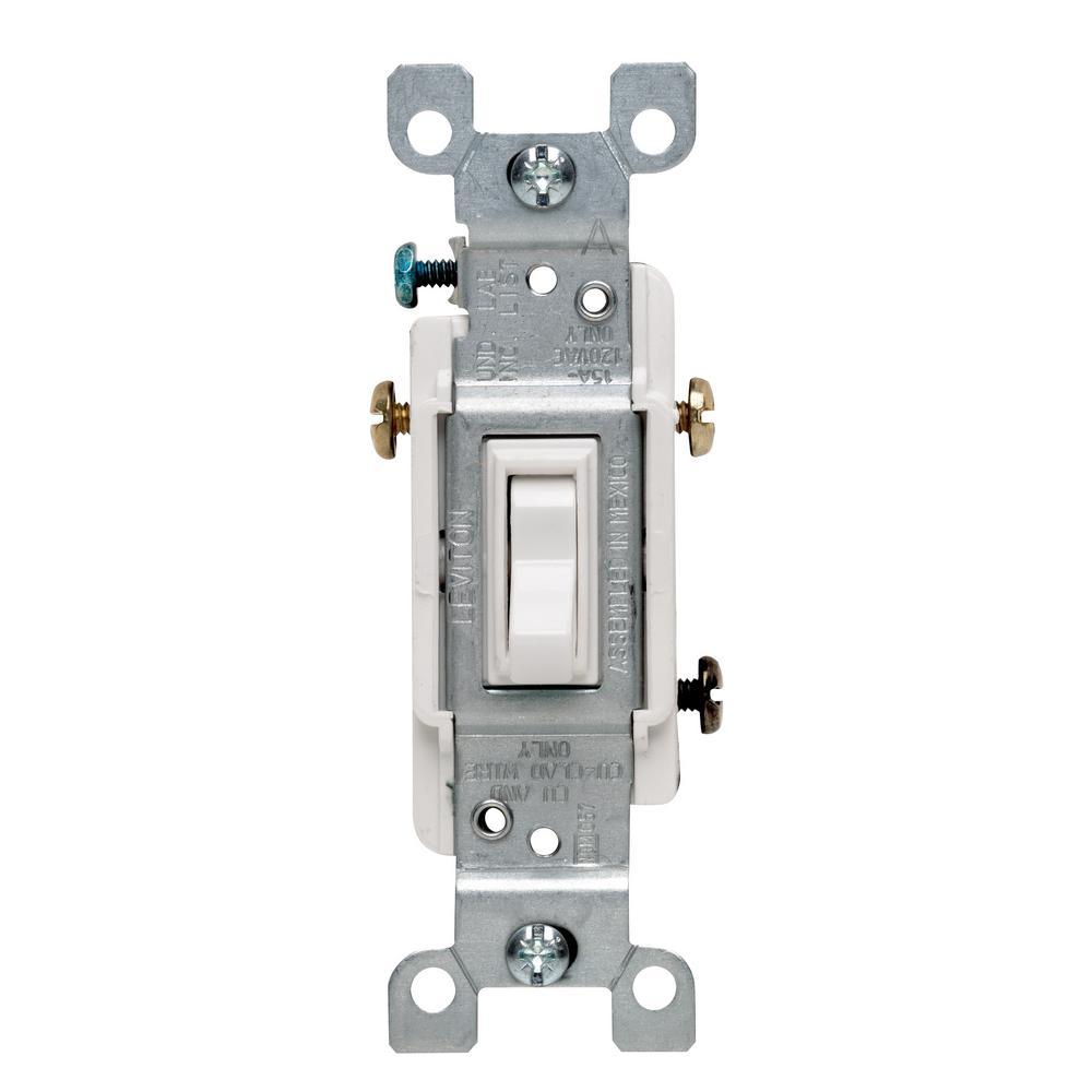 medium resolution of leviton 15 amp 3 way toggle switch white