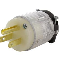 15 amp 125 volt nema 5 15p 3 prong household male plug with power indicator [ 1000 x 1000 Pixel ]