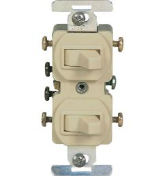 15 amp commercial grade toggle duplex switch ivory [ 1000 x 1000 Pixel ]