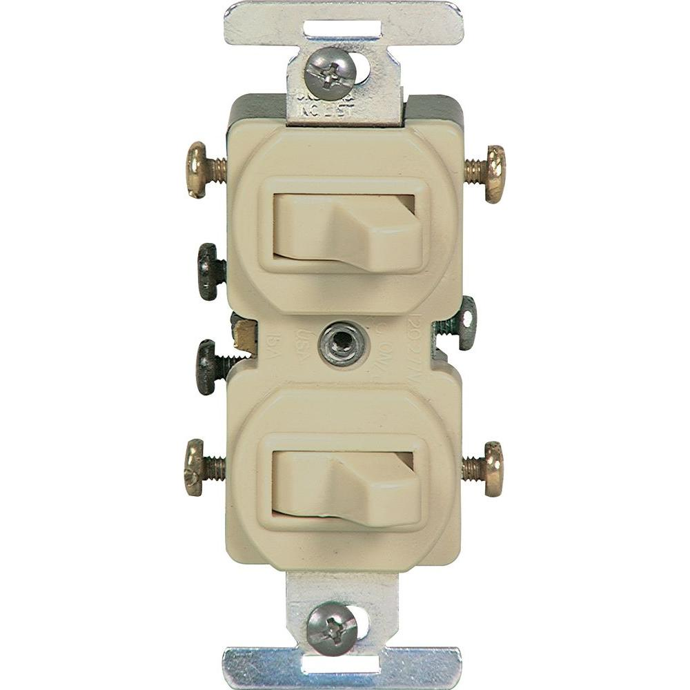 medium resolution of 15 amp commercial grade toggle duplex switch ivory