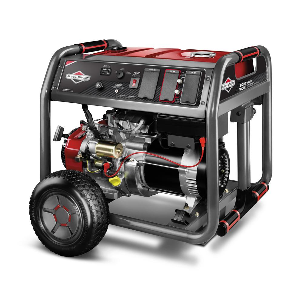 medium resolution of 8 000 watt gasoline powered key electric start portable generator with 2100